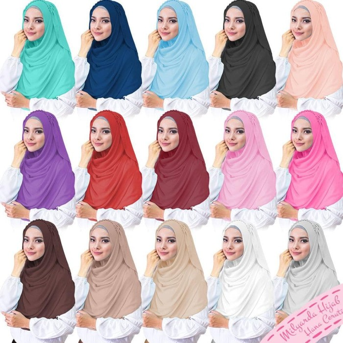 murah hijab hana ceruti/ kerudung instan/ jilbab modis