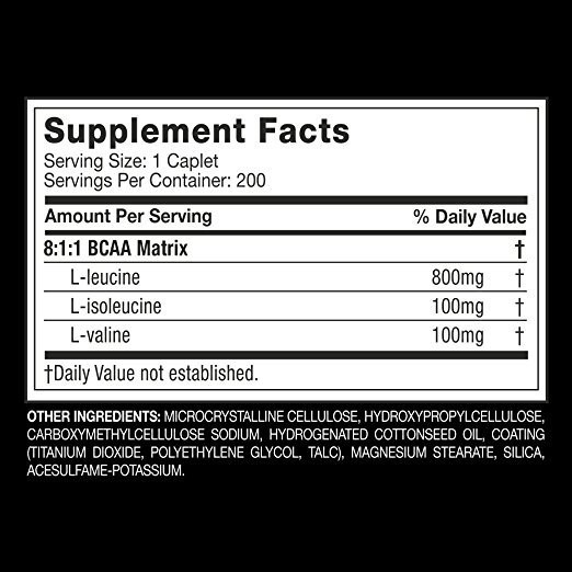 Suplemen Muscletech Platinum BCAA 8:1:1 Essential Series 200 Caps-ORI