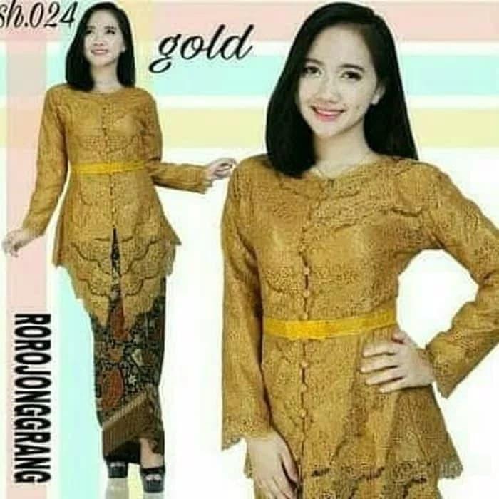 Jual Setelan Wanita Baju Atasan Bawahan Kebaya Rok Batik Brukat Pakaian Kota Yogyakarta Magdalena Galeri Tokopedia