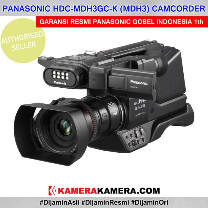 harga Panasonic mdh3 professional camcorder with built-in led garansi resmi Tokopedia.com