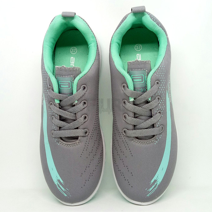 Ando Original Lindsey Grey Tosca Sepatu Olahraga Senam Kuliah Wanita - Abu- abu Muda,