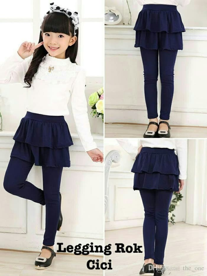 Jual Celana Legging Anak Perempuan Cewek Celana Legging Rok Cici Kid Navy Jakarta Pusat Gloria Fashion Tokopedia