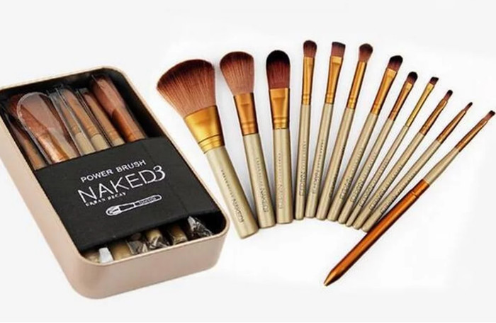Make Up Brush Naked 3 NAKED3 Brush Set Kit Isi 12 Kuas