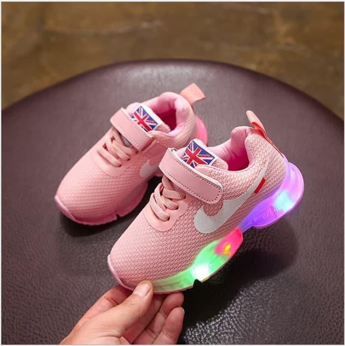 Update Harga Sepatu Nike Look A Like Sepatu Kets Lampu LED Anak ... 5b37f3116a