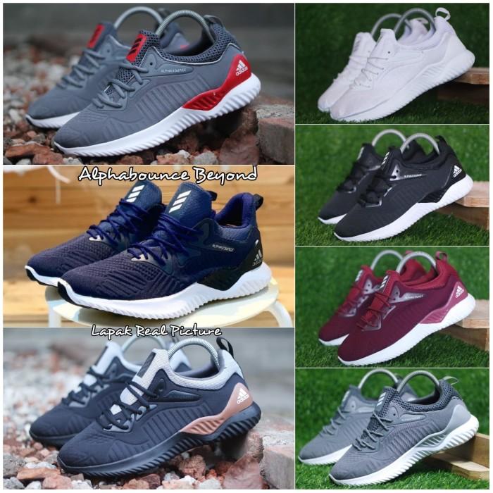 62e75fea09ab5 Sepatu Adidas Alphabounce Sneakers Sport Casual Jogging Running Fitnes -  Tipe Instinct
