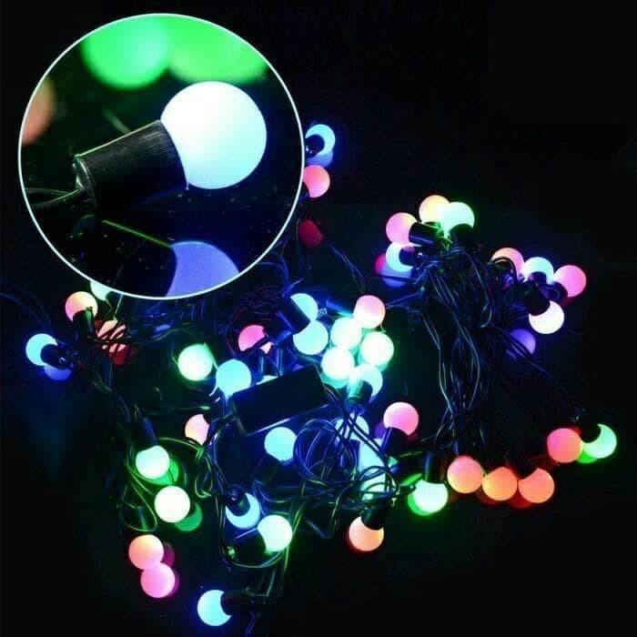 Lampu hias rainbow lampu natal tumblr 5meter tumblr morif bulat bola