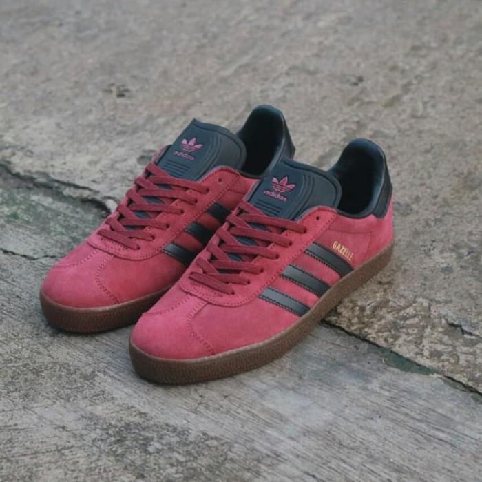 Jual Sepatu Adidas Gazelle Merah List Hitam Original Indonesia