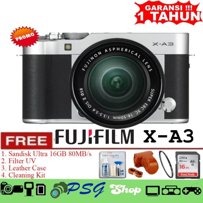 harga Fujifilm xa3 / fujifilm xa3 / kit 16-50mm silver - promo Tokopedia.com