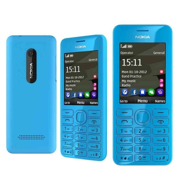 harga Nokia 206 asha camera dual sim gsm handphone unik hp jadul refurbish Tokopedia.com