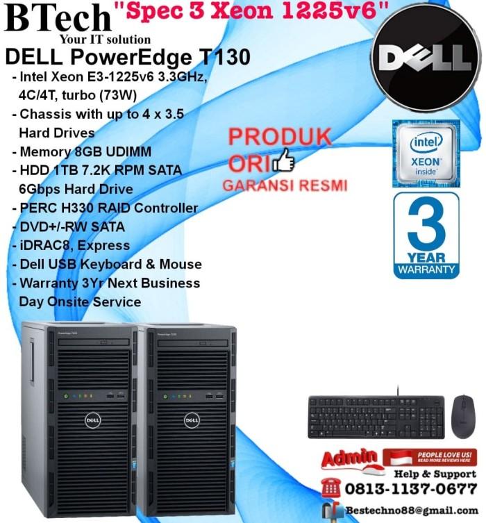 Jual DELL PowerEdge T130 Intel Xeon E3-1225v6/8GB/1TB/DVDRW/3YR - DKI  Jakarta - BESTechno88 | Tokopedia