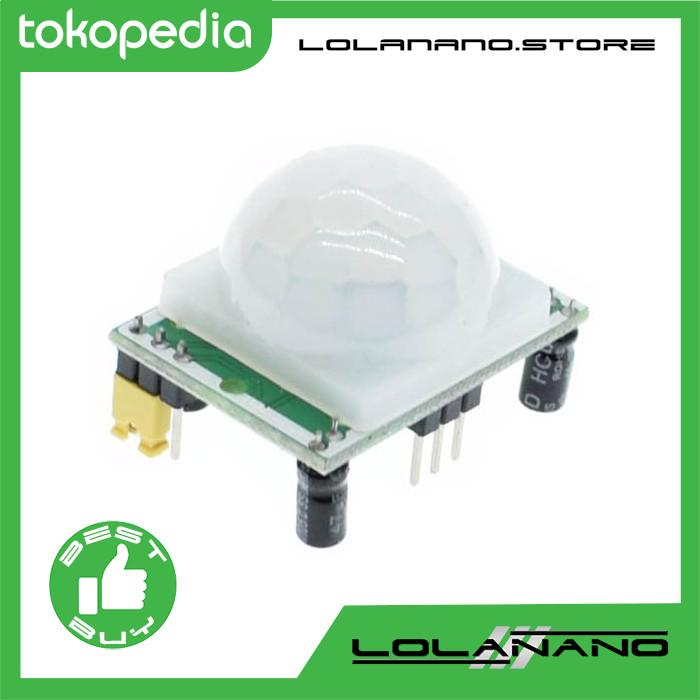 Jual PIR Motion Sensor Detector Module for Arduino Raspberry Pi - HC-SR501  - Lolanano | Tokopedia
