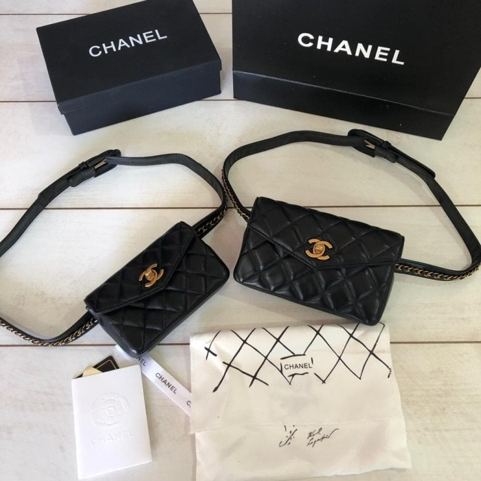 300ddc5344b665 Jual Chanel Waist Bag Lambskin 99009 Super Mirror Quality - Kota ...