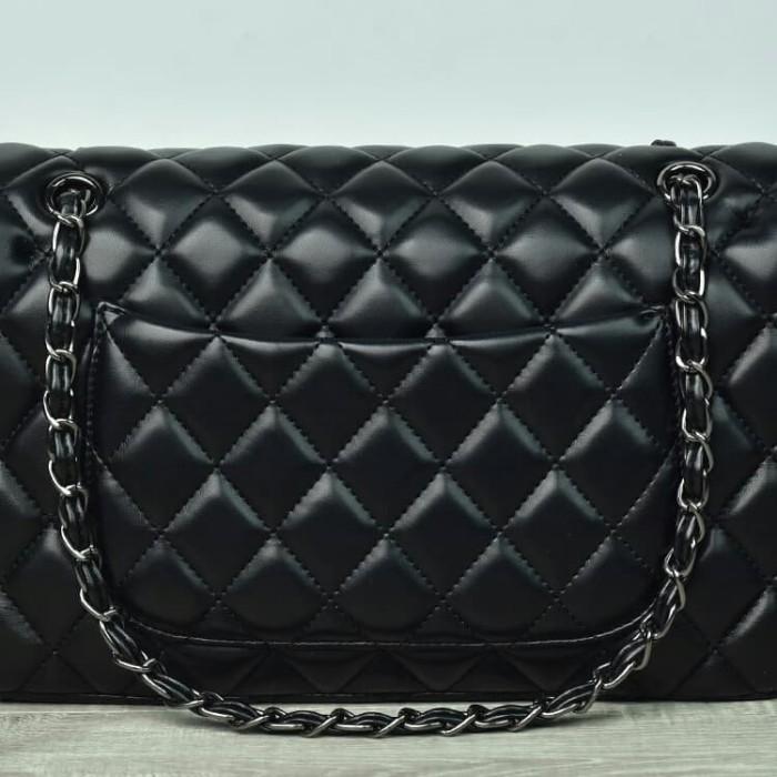 bf77523dfa13 Tas Chanel Classic Flap Medium Lambskin BHW HITAM Semi Premium AL9601 -