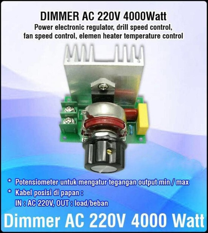 Jual ready Dimmer Speed rpm Motor AC 220 Volt 4000 Watt - non casing - ady  santoso | Tokopedia