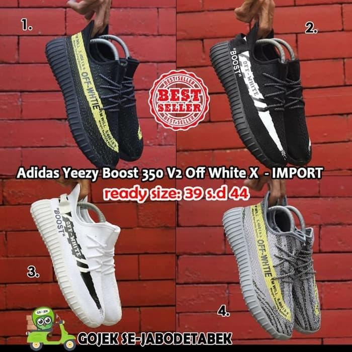 Jual Adidas Yeezy Boost 350 V2 Off White X Import. sepatu pria ... 0271d1102f