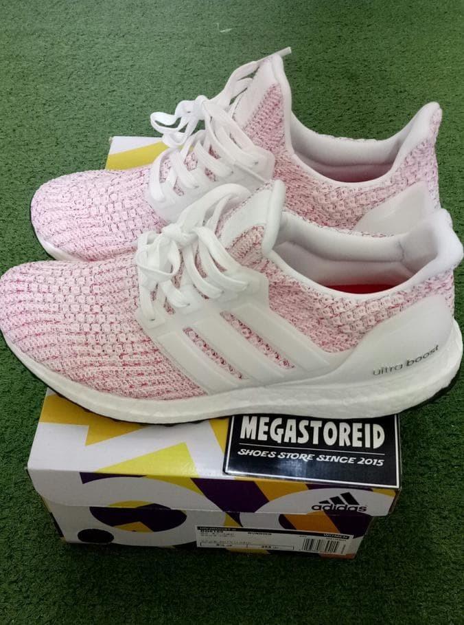 9e8702919 Jual Sepatu Adidas Ultra Boost 4.0 Candy Cane Pink Ua Original Basf ...