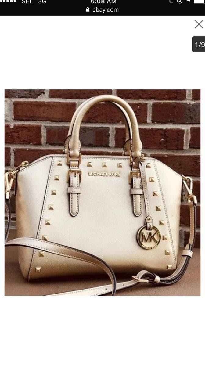 41219aa94b2777 Jual Ready Tas Michael Kors Ciara Studded Gold Original - DKI ...
