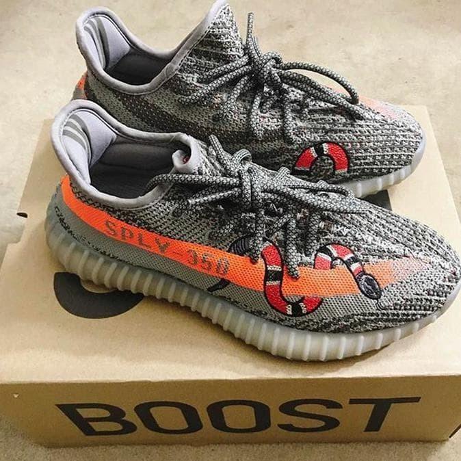 483e6e5167c04 Adidas Yeezy Sply 350 X Gucci Snake Beluga Premium Original   Sneakers