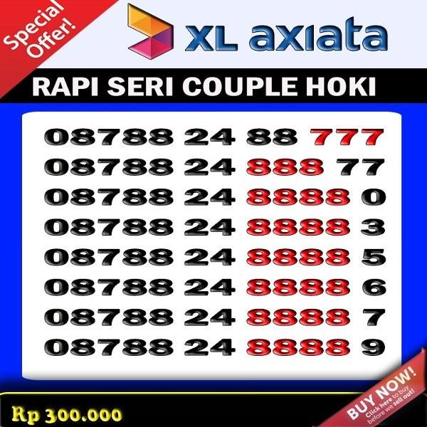 Nomor Cantik XL Super Rapi triple Kwartet Panca seri Mudah di hapal