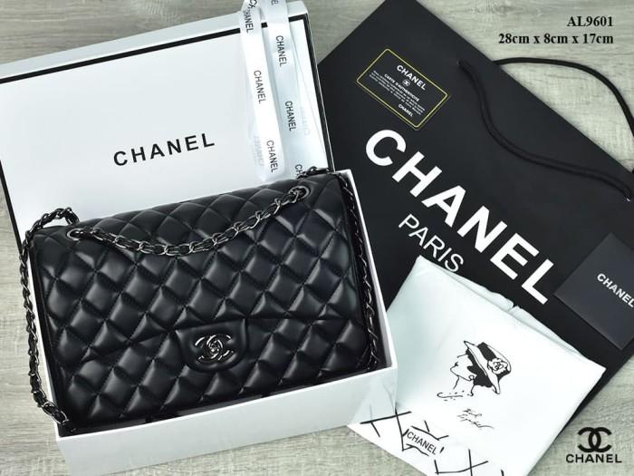5f03250092a3 Jual Tas Chanel Classic Flap Medium Lambskin BHW HITAM Semi Premium ...