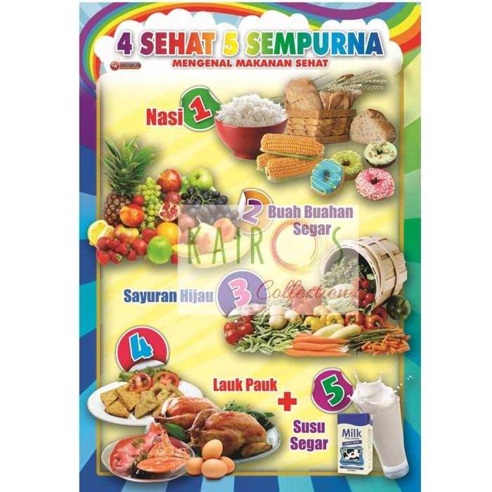 Jual Poster Anak Edukasi 4 Sehat 5 Sempurna Kota Surabaya Kairos Collection Tokopedia