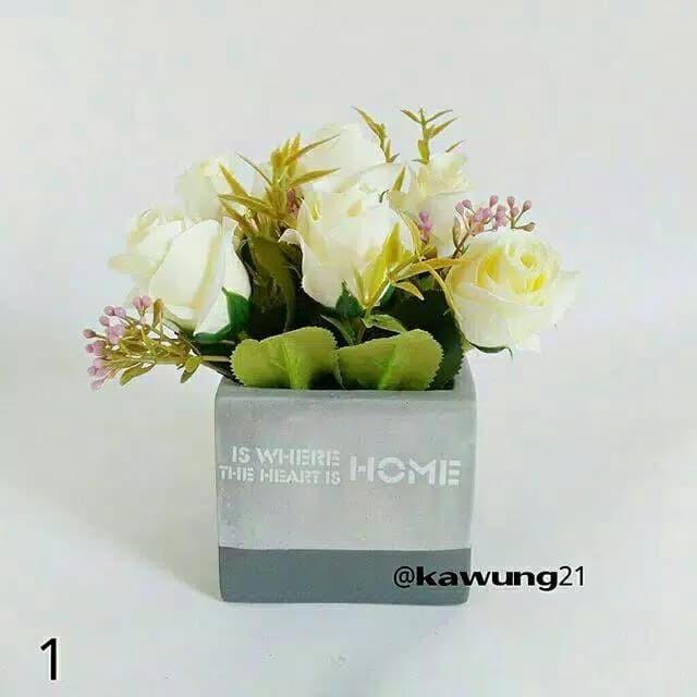 825683abd94 Jual Vas Bunga Home Kotak Pot Keramik Unik Bunga Artificial Dekorasi ...