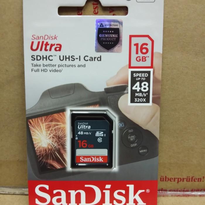 harga Sandisk ultra sdhc 16gb 48mb/s class 10 Tokopedia.com