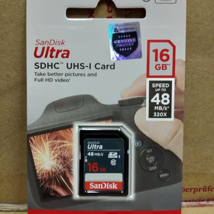 harga Sandisk ultra sdhc16 gb 48mb/s original Tokopedia.com