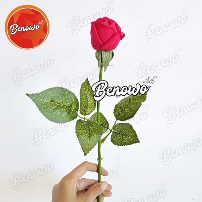 Tangkai Bunga Plastik Mawar Tiruan - Bunga Palsu Merah Valentine AF05 -  Putih Pink ea0b6b3dac