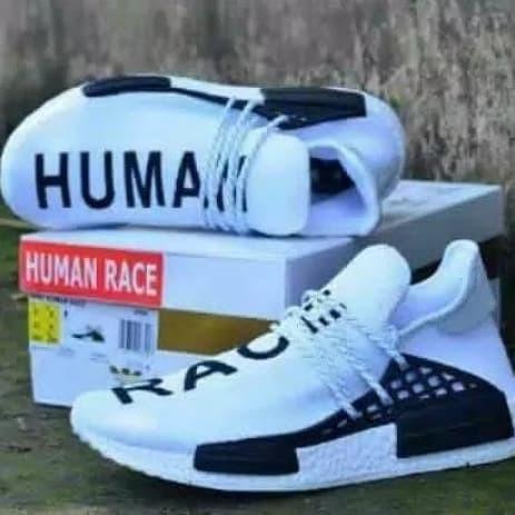 7e5d88801 Jual sepatu adidas nmd human race white sneakers pria -