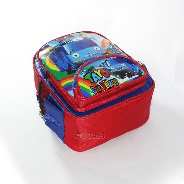 Tas Anak Sekolah PlayGroup PG Karakter TAYO Merah Biru