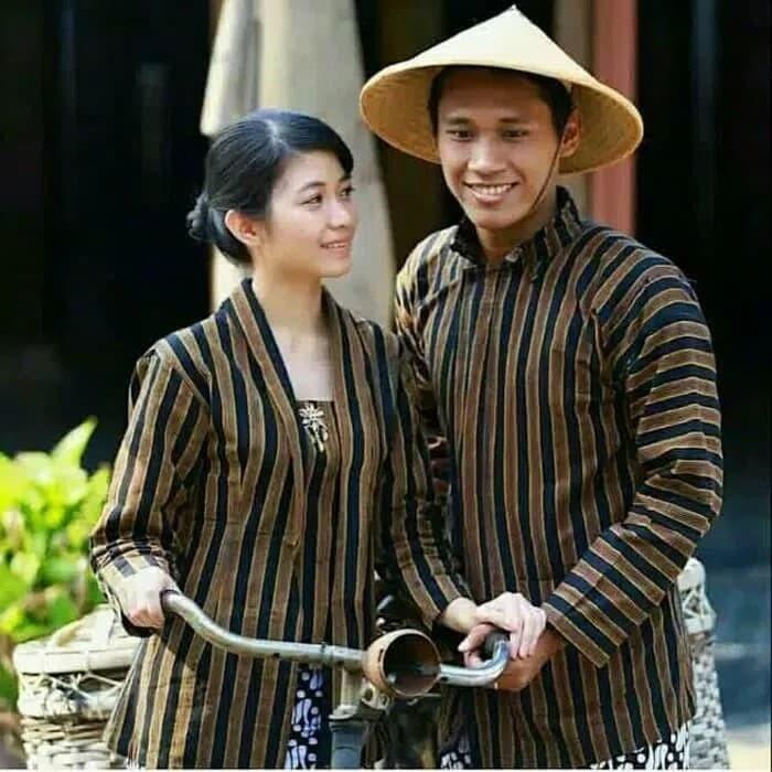 Baju Surjan Couple / Lurik Couple Pasangan Pria dan wanita
