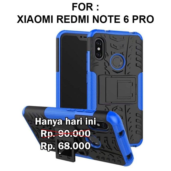 sports shoes 82281 b01e6 Jual Rugged armor case Xiaomi Redmi Note 6 Pro softcase casing back cover -  Hitam - DKI Jakarta - Casing handphone murah | Tokopedia