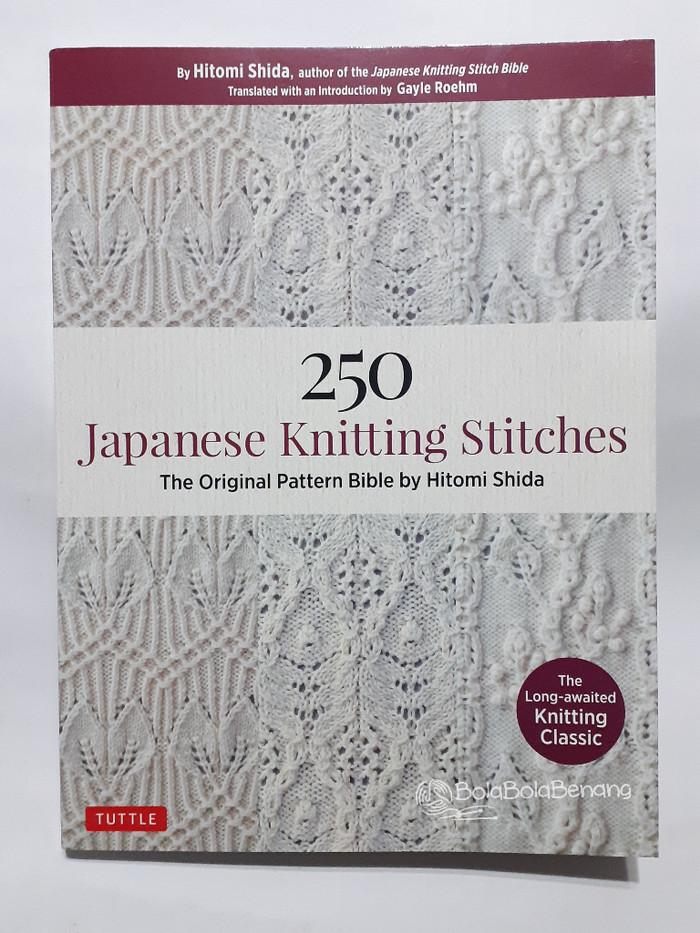 Jual 250 Japanese Knitting Stitches By Hitomi Shida Buku Merajut