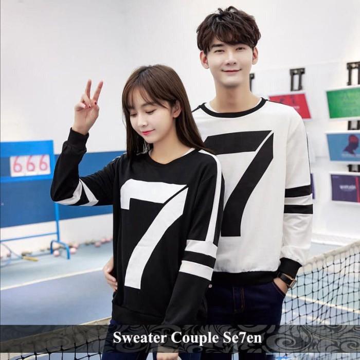 Foto Produk sweater couple seven | sweater tebal | pusat sweater terlengkap dari koleksi baju couple