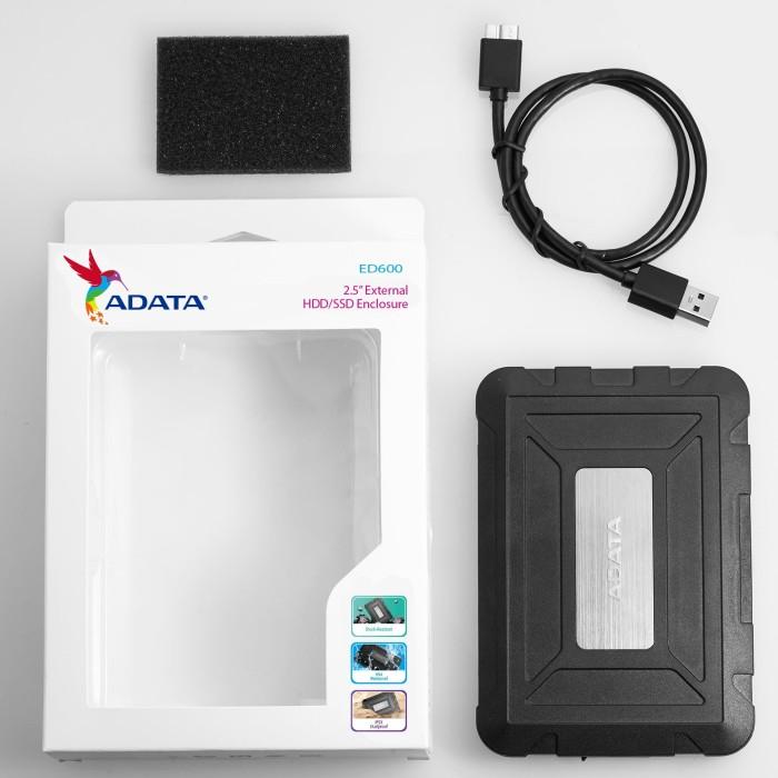 Foto Produk ADATA ED600 External HDD SSD 2.5 USB 3.0 Enclosure Shock & Water Proof dari Jaya PC