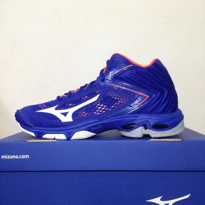 Sepatu Volley Mizuno Wave Lightning Z5 Mid Pantone Blue V1GA190500 Ori b2143371ac