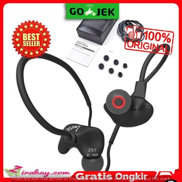 b3fdf327d74 Harga Terbaru Grosir Knowledge Zenith KZ ZS3 In Ear Earphone - Hitam ...