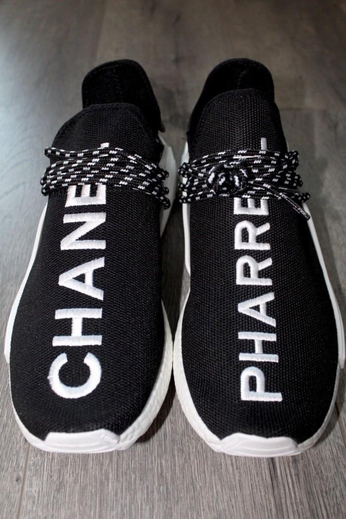 92e2b21b2b7b3 Adidas nmd human race pharrell x chanel black high premium original