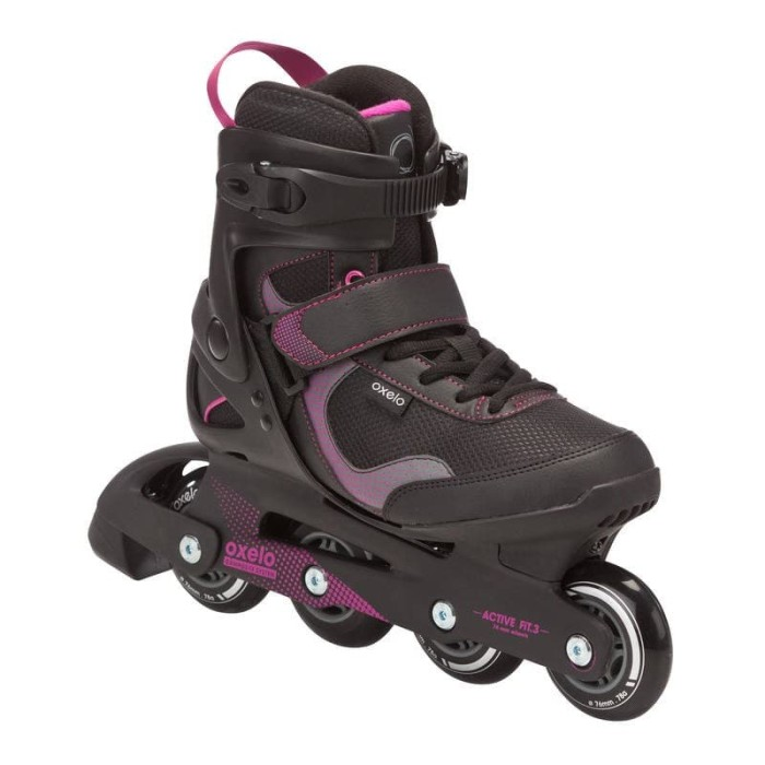harga Oxelo sepatu roda wanita inline skate hitam-mageta Tokopedia.com