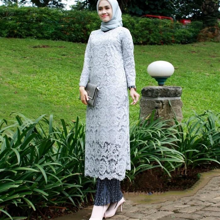 Jual Setelan Kebaya Brokat Semi Gamis Terbaru Kota Tangerang Rumah Mode Khadijah Tokopedia