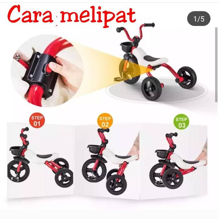 harga Sepeda lipat 3 roda foldable tricycle Tokopedia.com