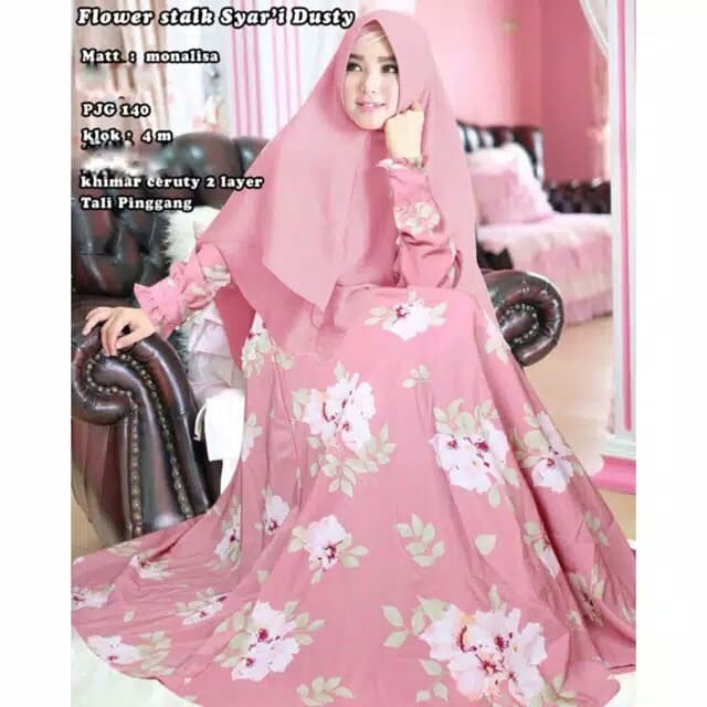 new motif serie E gamis wolfis busui ld 100 real pic