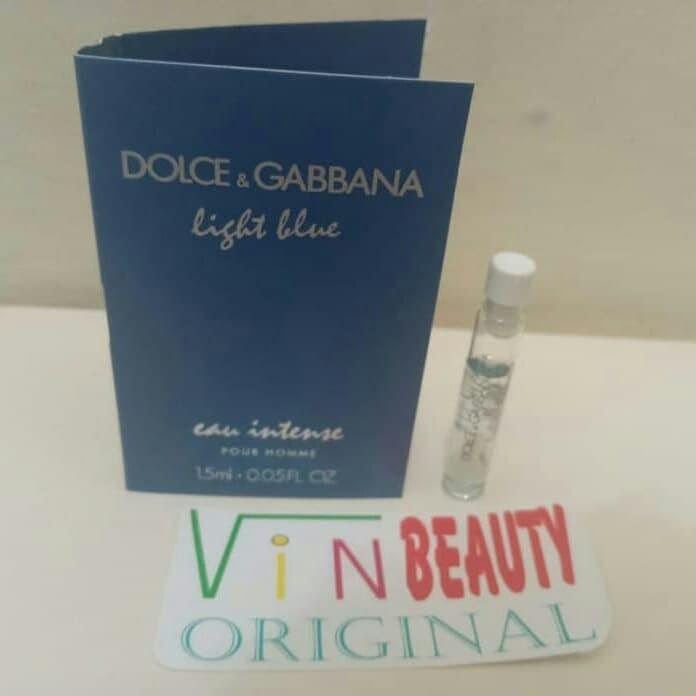 Vial Parfum OriginaL Dolce Gabbana Light Blue Intens For Men Murah