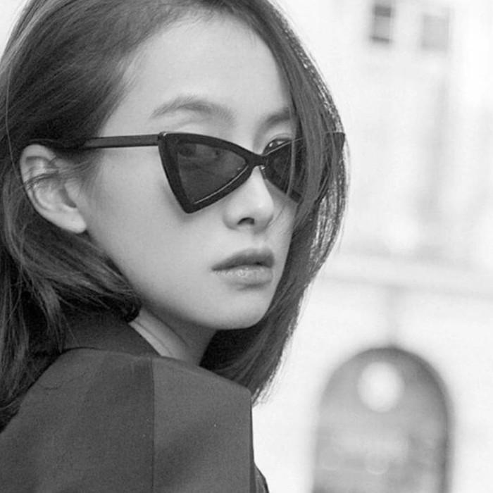 679e2a0a9161 jual cepat Vintage Triangle Cat Eye Women Sunglasses 0800 - Kacamata