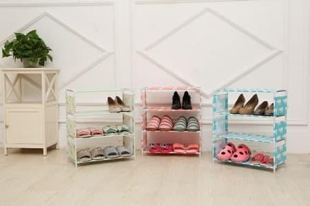 Image result for Rak Portable 4 Susun Sepatu Sandal