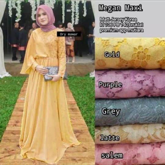 Foto Produk Dress/baju pesta/Brokat import Megan maxi dari Sandhangan Mahar