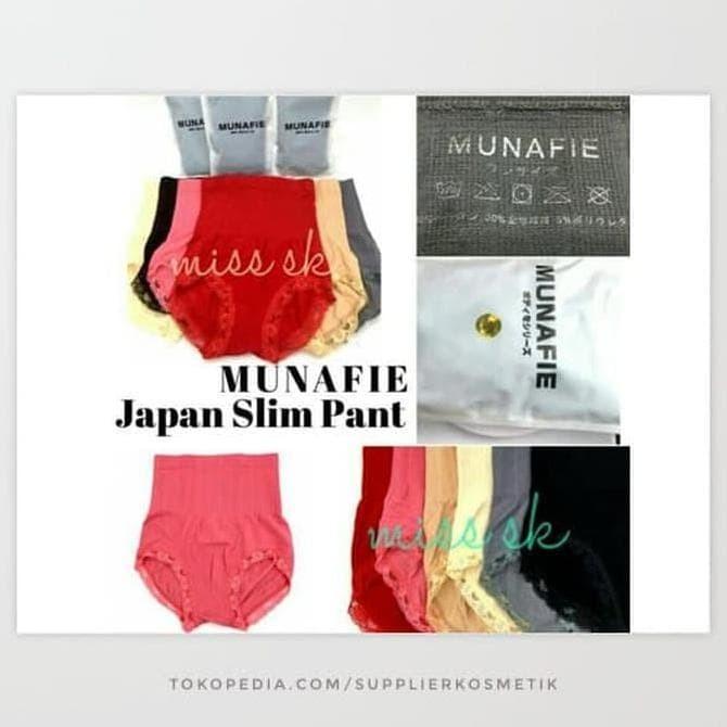 tebal Munafie kualitas tebal / japan slim pants munafie tebal - Hitam