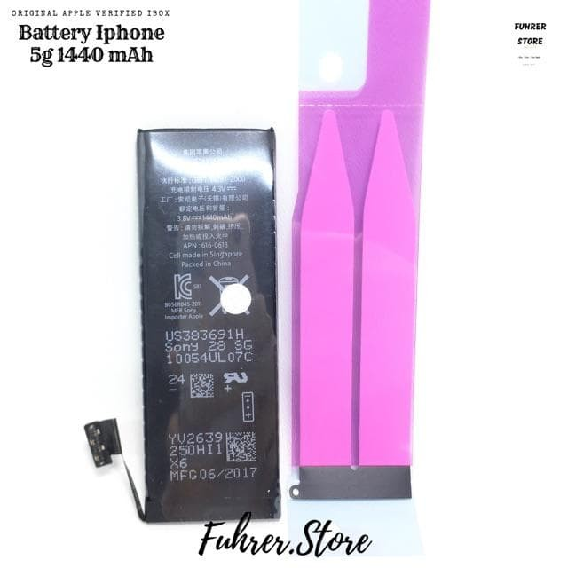 Baterai / Battery / Batre Iphone 5 5G 5S ORIGINAL GARANSI