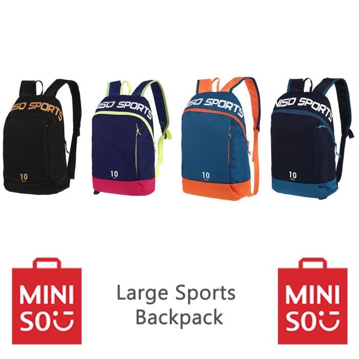 5f712dcc15 Jual Promo Miniso Large Sports Backpack Ransel Olahraga Trendy ...